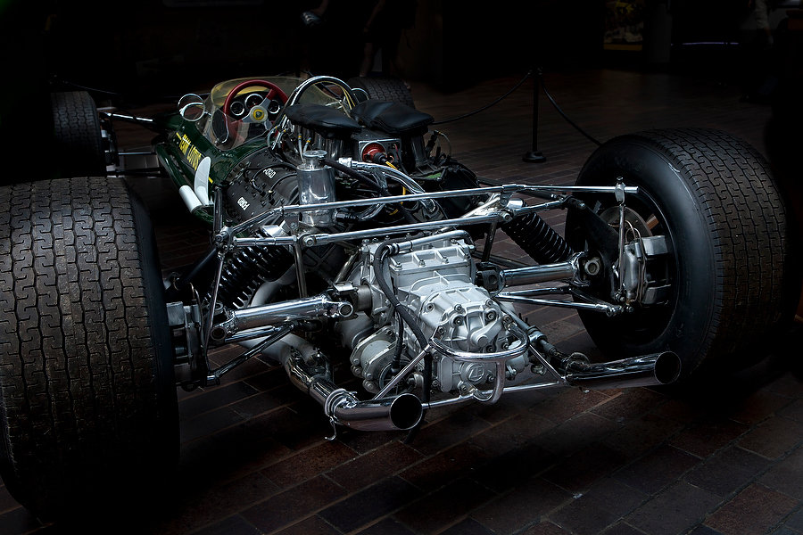 Vintage F1 engine design photography